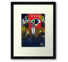 Follow the TV Framed Print