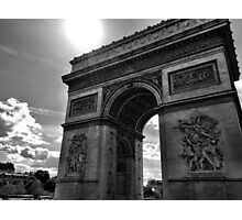 Arc du Triomphe, Paris (black and white) Photographic Print