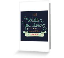 Blue Poet Greeting Card