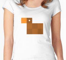 Pixel by pixel – Duck Women's Fitted Scoop T-Shirt