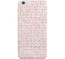 BTS Rise of Bangtan Lyrics Phone Case iPhone Case/Skin