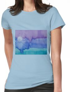 Moon From Day Into Night Womens Fitted T-Shirt