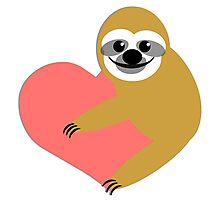 Sloth Love Photographic Print