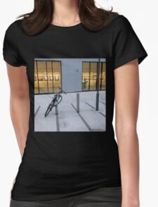 Oslo Gallery at Night Womens Fitted T-Shirt