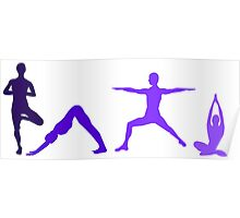 Yoga Purple Poster