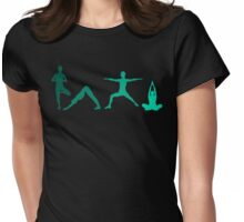 Yoga Blue Womens Fitted T-Shirt