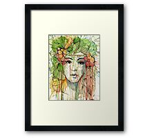 Natural Fashion // Garden Framed Print