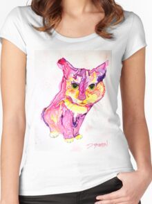 Cat Eyes Abstract by Deb Breton Women's Fitted Scoop T-Shirt