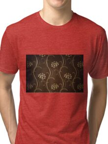Beaut Flower Design  Tri-blend T-Shirt