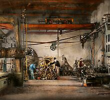 Steampunk - In an old clock shop 1866 by Mike  Savad
