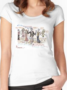 Hungry Zombies Women's Fitted Scoop T-Shirt