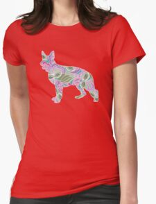 German Shepherd Colorful Floral Garden Pattern T-Shirt