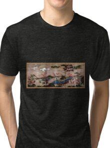 Kanō Hideyori Maple Viewers Tri-blend T-Shirt