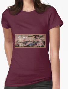 Kanō Hideyori Maple Viewers Womens Fitted T-Shirt