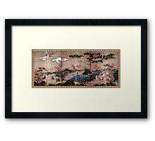 Kanō Hideyori Maple Viewers Framed Print