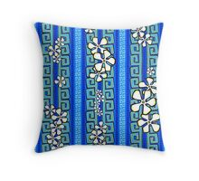 Blue Kauai Throw Pillow