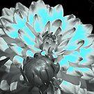Neon Blue Flower by Angela Lance