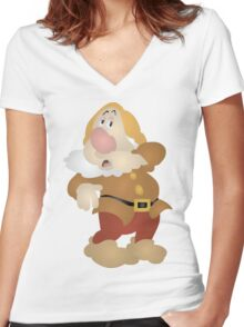 Sneezy Women's Fitted V-Neck T-Shirt