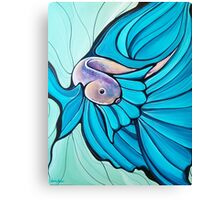 Blue Betta Fish, Illustrated Painting Canvas Print