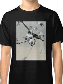 Watanabe Seitei Bird on a Flowering Branch Classic T-Shirt