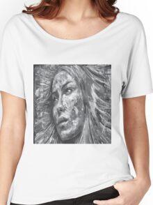 Beautiful Women Eyes Black White Grey Women's Relaxed Fit T-Shirt