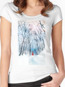 February Snow Women's Fitted Scoop T-Shirt