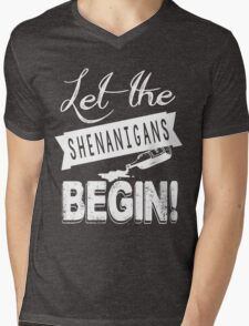 Saint Patricks Day Shenanigans Mens V-Neck T-Shirt