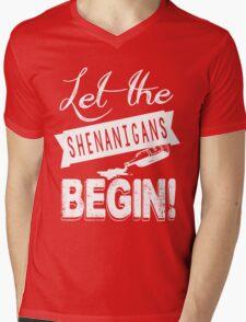 Saint Patricks Day Shenanigans Mens V-Neck T-Shirt