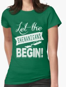 Saint Patricks Day Shenanigans Womens Fitted T-Shirt