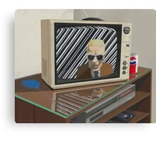 The Max Headroom incident Canvas Print