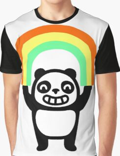 Panda Found A Rainbow Graphic T-Shirt