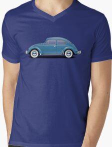1961 Volkswagen Beetle - Gulf Blue Mens V-Neck T-Shirt