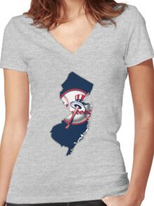 New york Yankees - new jersey fan Women's Fitted V-Neck T-Shirt