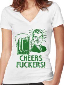 Irish Cheers For Saint Patricks Day Women's Fitted V-Neck T-Shirt