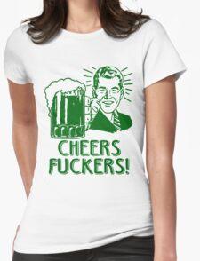 Irish Cheers For Saint Patricks Day Womens Fitted T-Shirt