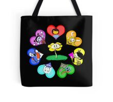 Undertale - Hearts with Characters Tote Bag