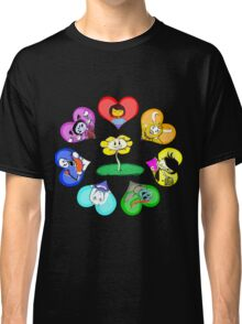 Undertale - Hearts with Characters Classic T-Shirt