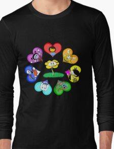 Undertale - Hearts with Characters Long Sleeve T-Shirt