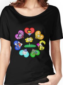 Undertale - Hearts with Characters Women's Relaxed Fit T-Shirt