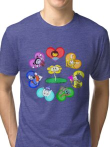 Undertale - Hearts with Characters Tri-blend T-Shirt
