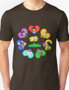 Undertale - Hearts with Characters T-Shirt