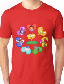 Undertale - Hearts with Characters Unisex T-Shirt