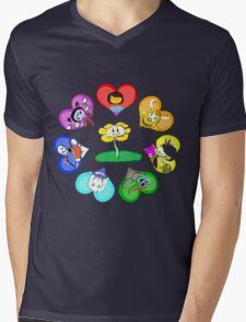Undertale - Hearts with Characters Mens V-Neck T-Shirt