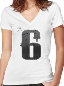 The Six -  City of Toronto, Ontario, Cananda Women's Fitted V-Neck T-Shirt