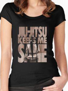 Jiu-Jitsu Keeps Me Sane Women's Fitted Scoop T-Shirt