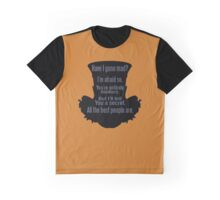 Mad Hatter funny nerd geek geeky Graphic T-Shirt