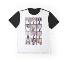 Grey's Anatomy Characters Graphic T-Shirt