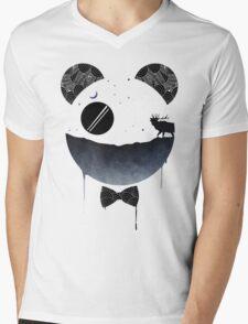 Dark Panda Mens V-Neck T-Shirt