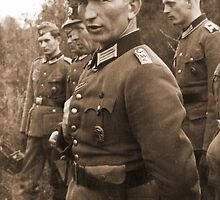 WW2 German Prussian Soldier with Totenkopf on Visor Cap by Obama666