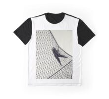 Crow in Net Graphic T-Shirt